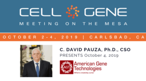 American Gene Technologies to Present at 2019 Cell & Gene Meeting on the Mesa