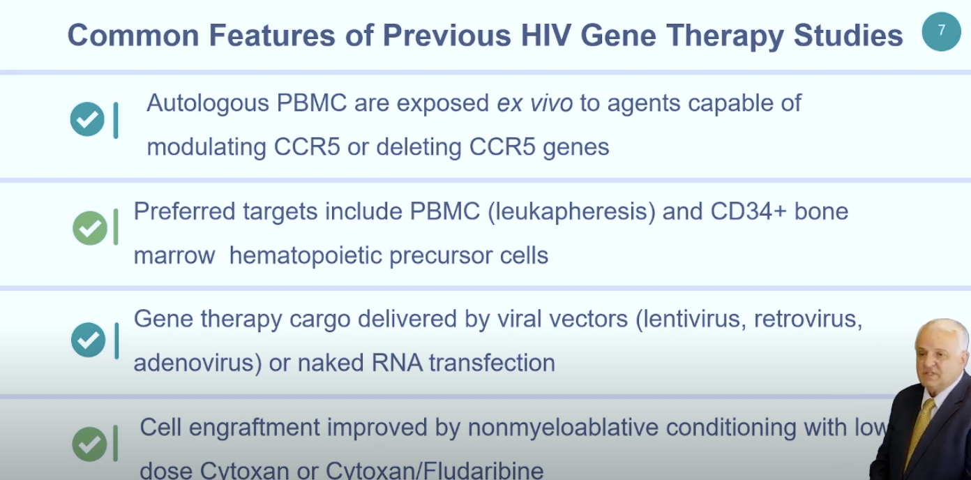 common-features-of-previous-hiv-gene-therapy-studies